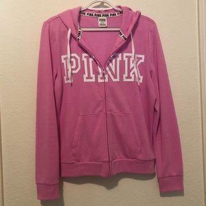 Victoria Secret pink zip up hoodie